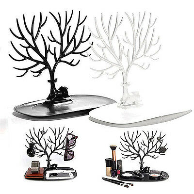 Jewelry Deer Tree Stand Display Organizer Necklace Ring Earring Holder Rack FB