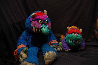 Vintage 1986 My Pet Monster Original AmToy Plush Stuffed Toy/w Hand Cuffs