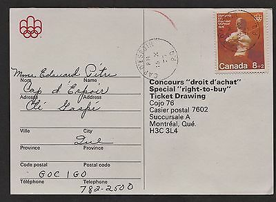 """1976 Montreal Olympics """"right-to-buy"""" ticket drawing, postal ballot. Opening & E"""