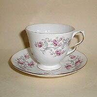 Royal Osborne tea-set, vintage bone china, 21 pieces (one item damaged)
