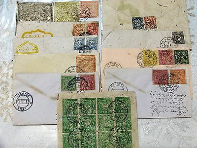 China Tibet Old Covers Collection With Different Stamps And Postmarks