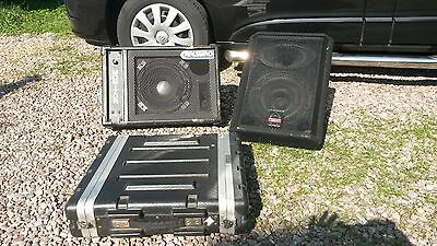 Power amp and stage monitors