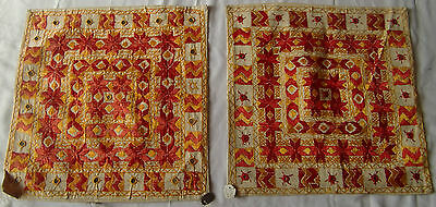 Very Pretty Old Vintage Embroidery Cushions/pillow Cover India Fine India Art 25