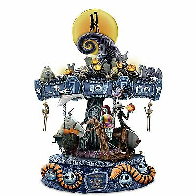 Bradford Exchange The Nightmare Before Christmas Rotating Musical Carousel