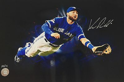 Kevin Pillar Signed 12x18 Toronto Blue Jays Limited Edition Photo /11