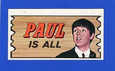The Beatles Plaks Topps # 13 PAUL IS ALL