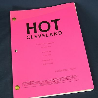 Hot In Cleveland TV Show Shooting Draft Script Love Is All Around Betty White