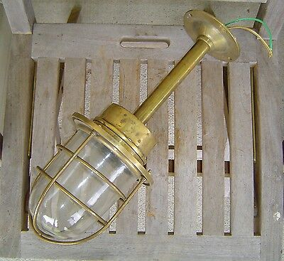 Brass Nautical Ship Ceiling Light - Rewired (Lot B)
