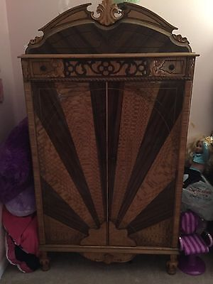 Antique 1920s Bedroom Set Dresser Vanity Wardrobe Full Bed Furniture