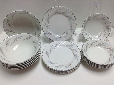 Johnson Brothers Snowhite Regency - 6 Cereal - 5 Bread - 6 Berry Bowls