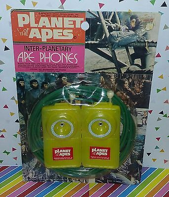 Vintage 1970s Planet of the Apes Inter-planentary Ape Phones Larami Rack Toy