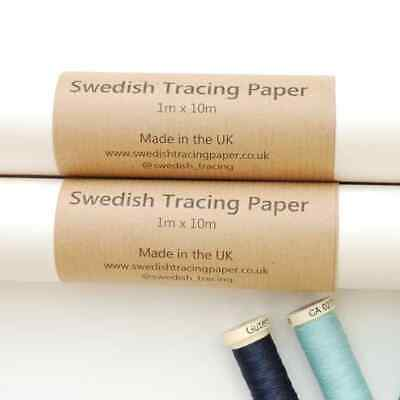 Swedish Tracing Paper For Dressmaking 1m wide - 10m Roll