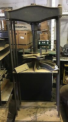 Large Bookbinding Papermaking Screw Press Hickok