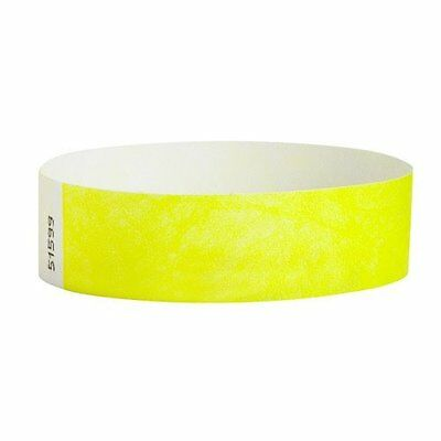 """3/4"""" Tyvek Wristbands - Admission Control (500 count) - Choose Color"""