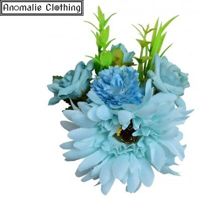 Collectif Country Garden Gerbera Hair Clip in Blue