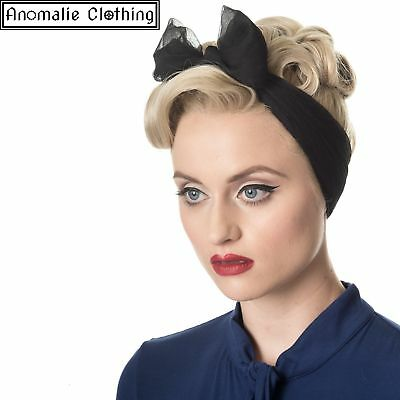 Banned Apparel Dancing Days Gradiation Scarf in Black - 1950s Retro Rockabilly
