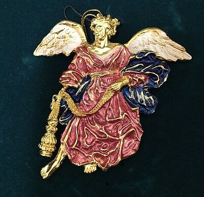 Metropolitan Museum of Art - Angel Christmas Tree Hand Painted Ornament & Pouch
