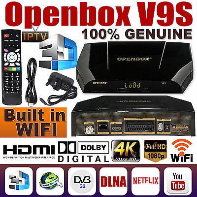 Latest Openbox V9S Sd/hd  With Inbuilt Wifi & 12 Months Gift And Iptv Functions