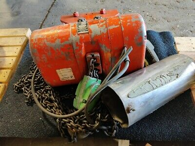 Columbus Mckinnon CM LodeStar 2 Ton Electric Chain Hoist with Manual Trolley