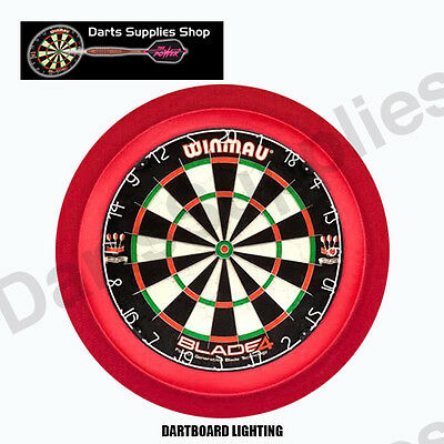 The Orbit 360 Dartboard LED Lighting Surround in Red