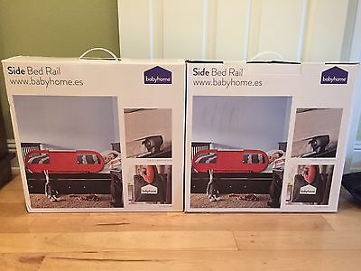 BabyHome Side Baby Bed Rail Nursery Safety Rail Mesh W/ Straps Sand - Lot Of 2
