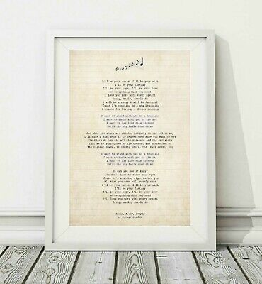 360 Savage Garden - Truly, Madly, Deeply - Song Lyric Poster Print - Sizes A4 A3