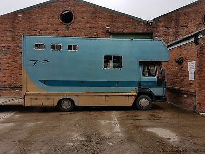1989 Ford Iveco 7.5 ton horsebox stalled for 3