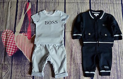 HUGO BOSS Baby Boys Designer Clothes Bundle Jogging Suit T-shirt Pants Newborn