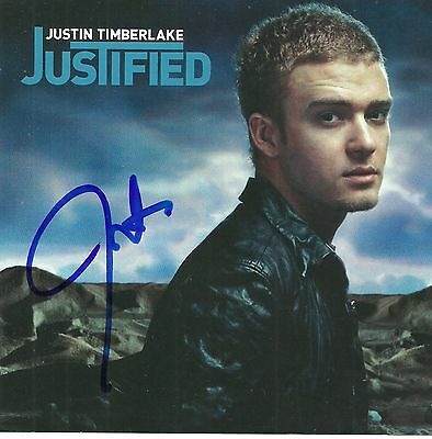 Justin Timberlake signed Justified cd nsync