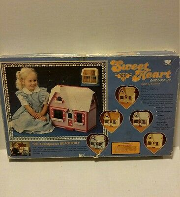 SWEETHEART vintage build it yourself dollhouse brand new in box all wood pieces