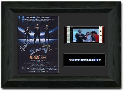 Superman II 35 mm Film Cell Stunning display Cast Signed Christopher Reeve