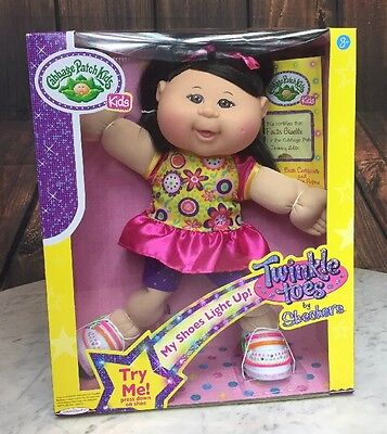 NEW Cabbage Patch Kids 14in Asian Girl SKETCHERS Twinkle Toes Doll Faith Gisele