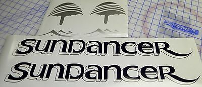 "Sea Ray Sundancer Decals 2  sets -Blue silver Drop shadow version 3.9"" x 22.5"""