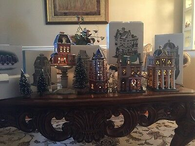 Dept 56 Christmas In The City Series - Lot Of 4