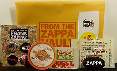 FRANK ZAPPA 2017 From The Vault Kickstarter Poncho Pins Stickers Patch Pass