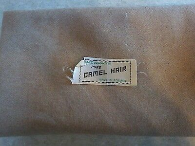 Vintage 100% Camel Hair Fabric Made in England Never used. Sealed away. 61x55""