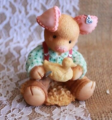 """1999 ENESCO TLP  """"A Whittle Love Goes A Long Way"""" This Little Piggy Whittling"""