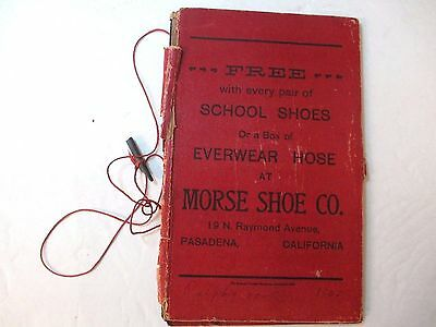 "Morse Shoe Co. Advertising ""Free with every pair of school shoes"" Slate Book"
