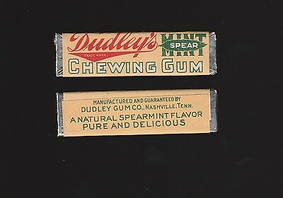 Rare advertising chewing GUM STICK with wrapper --- DUDLEY Nashville TENN. 1917
