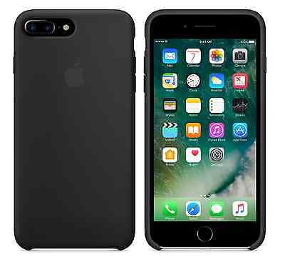 """BLACK GENUINE Apple Silicone Case For iPhone 7 Plus 5.5"""" SEALED RETAIL BOX NEW"""