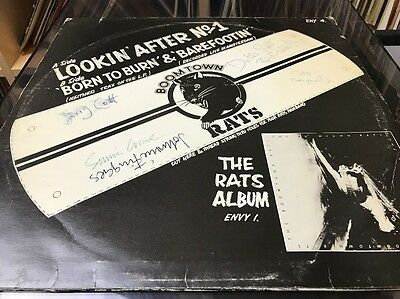 the boomtown rats lookin after no1 signed by all of original band ensign records