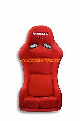 Bride Zieg Red Cloth Black Frp Low Max Racing Seat Single