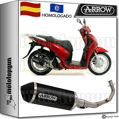 Arrow Sistema Escape Completo Urban Aluminio Dark Hom Honda Sh 125 Abs 2012 12