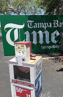 Newspaper- Machine-Used-Good Condition-Tampa Tribune Vending Machine