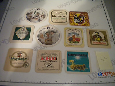 Lotto 10 sottobicchieri birra tutti diversi - beer coasters - beer mats