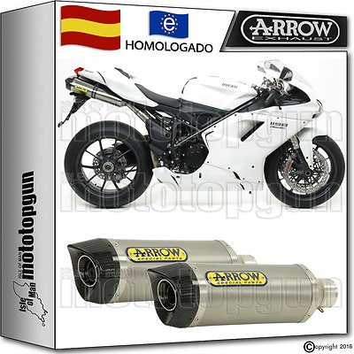 Arrow 2 Tubo De Escape Thunder Titano Carbon-Cup Kat Ducati 1198 2011 11 2012 12