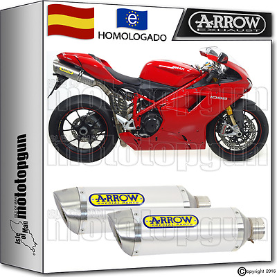 Arrow 2 Tubo De Escape Thunder Aluminio Kat Ducati 1098 S 2007 07 2008 08