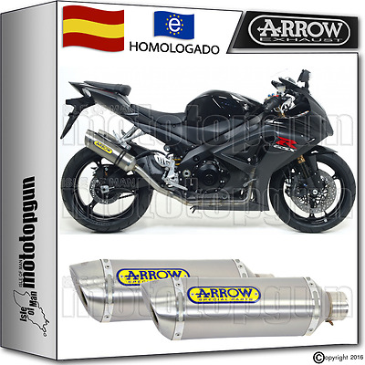 Arrow 2 Tubo De Escape Thunder Titano Hom Suzuki Gsxr 1000 2007 07 2008 08