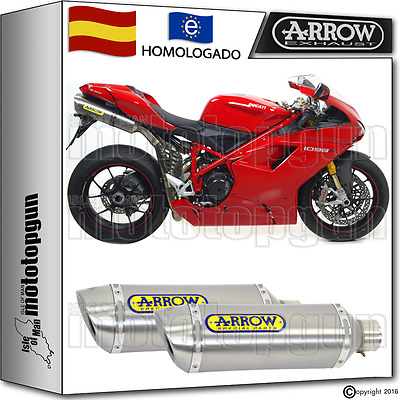 Arrow 2 Tubo De Escape Thunder Titano Kat Ducati 1098 S 2007 07 2008 08