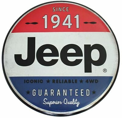 New Iconic Classic Jeep Tin Metal Sign Vintage Oil & Gas Station Garage 1941.
